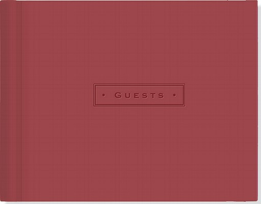 Burgundy Guest Book By Peter Pauper Press (COR)